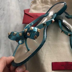 Valentino Shoes - Valentino Rockstud flip flops